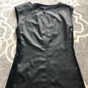 BCBG XS Faux Leather Vest